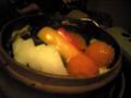 ヘルシーに蒸し野菜。