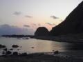三浦半島の夕暮れ。