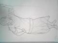 定例クロッキー5分 趣味(w)で腰から下太めに描きが ちなんだよね