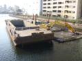 しゅんせつ船@天王洲。写真だと迫力がイマイチ。 (twitter from DSC-G3) #DS
