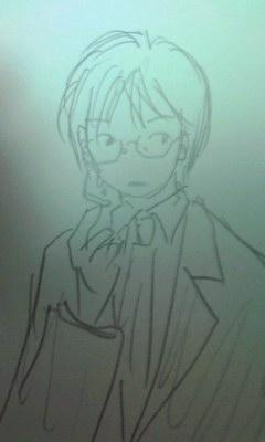 ひさびさらくがき。記憶だけを頼りに氷山先生を描いてみました。なん