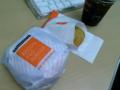 ファーストキッチンのベーコンエッグバーガー