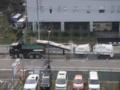 すげぇ!こんな工事用車両初めて見た。写真でわ かるかな?道路のア