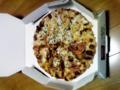 夜中にピザ