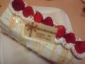 クリスマスケーキ 2個完成。実家に一つお届けしました。
