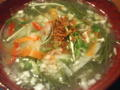 #ramen ちゃぶとん@横浜 スピルリナの野菜系らぁ麺 スピルリナという三