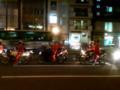サンタクロース目撃。四谷三丁目にて。