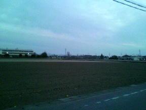 朝の太田、空気がすんでるいつもの光景