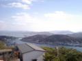 尾道大橋の見える景色。ケータイ画面だとどの程度写ってるのかわから