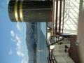 船の上から河口湖