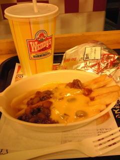 新宿のウェンディーズなう。定番だけどチリチーズフライが好きでした