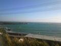 外房の海は今日もエメラルドグリーン。伝わりにくいのが残念 。