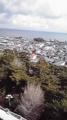 島原上の屋上まで登ったが、、、寒すぎる!