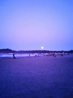 初日の出待ち@材木座海岸