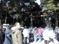 明治神宮入口。結構賑わっています。