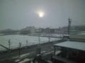 名古屋過ぎたらわや雪 さっきまで西日がきつかったんだがね じわじわ