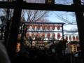 初詣、北野神社なう。かなり並んでる。