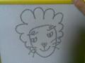 姉が甥のために描いたライオン。ひどい…