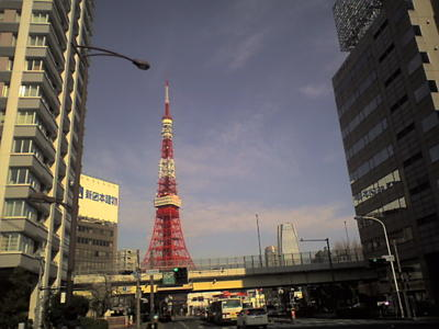 三田なう。タワー!