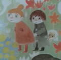 ヨシシエん家のポスターのスナフキン。待ち受け。なんでこんな可愛い