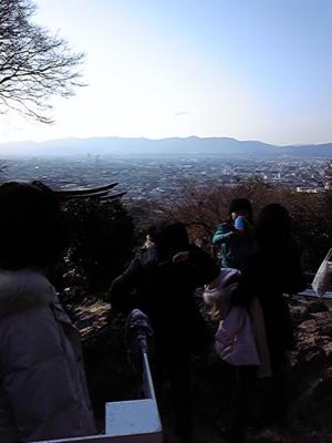 下京区一望。逆光すぎる。