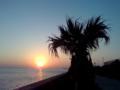 1月4日の夕陽 なう