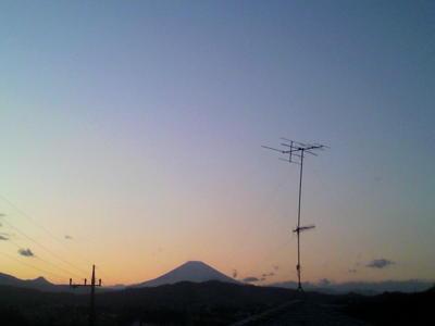 今日もきれいな夕日です。