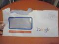 Googleから手紙来た!何!?と思って、あわてて開けたため、ビリビリで
