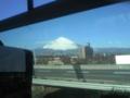 今日の富士山。 天気が良いから良く見える。  間近で見るとデッカイな