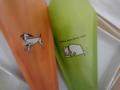 サンマルクカフェなう。チョコクロは犬でミルクロは猫なんだねヽ(′