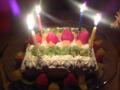 と女の子たちからのケーキ。わあい