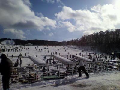 今日は、栃木県のハンターマウンテン塩原に日帰りスキーに来ました。