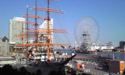 快晴の横浜。気持ちいい。