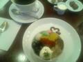 フルラージュにて、「抹茶のムース」でお茶中。