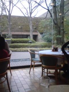 西洋美術館のレストランでランチ