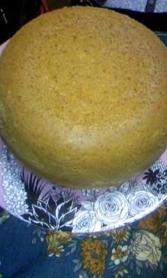 なんとなく作ってみた大きいホットケーキ。