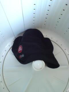 会社の洗濯機でネックウォーマーあらた