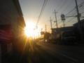 今日の夕日はすごかった