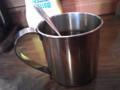 食後のコーヒー。カップがカッコイイ!!