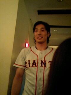 コスプレ中(?)の鈴木選手です。