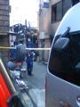 昨日の火事場。西新橋一丁目