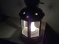 IKEAのランプに火を灯して寝ます。