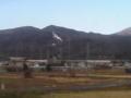 山から煙が出てる。山火事か!と思ったら火力発電所だった