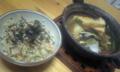 すし太郎を使ったマクロビちらしとお味噌汁♪これなら手間い らず。