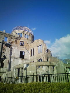 I'm in Hiroshima today. this is the scar of atmic bomb (world heritage).