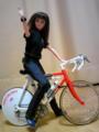 自転車にデカール貼って、PUFFYDollの由美と奇跡のコラボ。ジェニーのシ