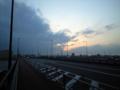 新小松川橋なう。こんな天気。