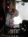 上手く撮れないがすげー大粒の雨。仙台晴れるんじゃなかったのかよ!