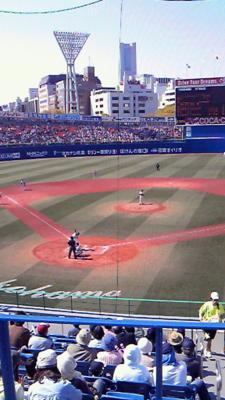 二週続けて横浜スタジアムwithTBSの優しいお兄さん。バックネット真裏