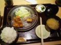 とんかつ和幸にて夕食